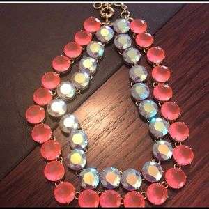 Gorgeous layered crystal J Crew necklace.